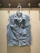 Women's GUESS Sleeveless Jean Tunic Length Shirt. Size Small. NWOT.