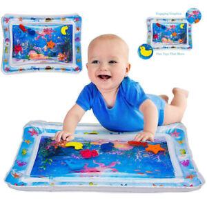 Baby Wasserkissen Spielmatte Aufblasbare Früherzieh Spielzeug 66 x 50 cm matte