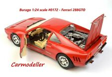 Burago Ferrari 288GTO - Red - 1:24 scale - Burago #0172 - good condition