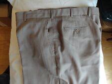 JOS. A. BANK TRAVELER'S MEN'S 100% WOOL DRESS/CASUAL PANTS SIZE(40 x 32.5) BROWN