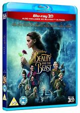 Beauty and the Beast 3D [BR3D + Blu-ray 2D, Disney, Live Action Region Free] NEW