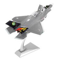 Scala 1/72 American F-35B Fighter Aircraft Pressofuso in metallo modello e
