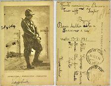 2126) Cartolina Milizia Ferroviaria acquaforte di E.Beraldini