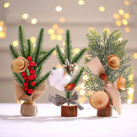 Mini Christmas Tree Xmas Decor Home Festival Party Desktop Ornament Gift 25CM