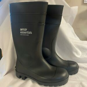 ARCO wellington boots size 6 (39) STEEL TOE CAP black NEW