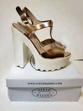 Steve Madden Women's Girl Talk Rose Gold Platform Heels Size 9 With Box Pumps