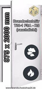 Brandschutztür Stahl T 30-1-FSA-RS 875 x 2000 mm mit Eckzarge