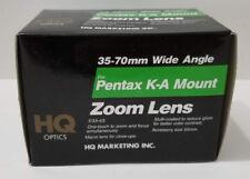 HQ Optics - 35-70mm Wide Angle f:3.5 - 4.5 for Pentax K-A Mount Zoom Lens *Mint*
