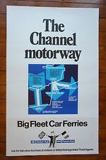 1970s 1980s The Channel Motoway SNCF BR Ferries Original Railway Travel Poster