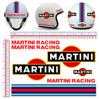 Adesivi casco martini racing sticker helmet tuning decal motorcycle 7 pz.