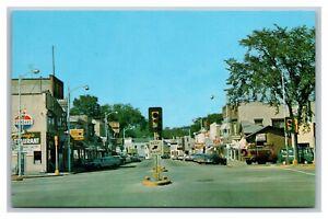 Sauk City, WI Wisconsin, Main Street View, IGA, Standard Gas, Vintage Postcard