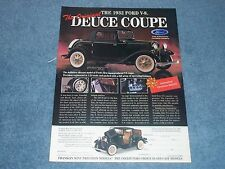 1932 Ford 3-Window Coupe Franklin Mint Die-Cast Vintage Ad