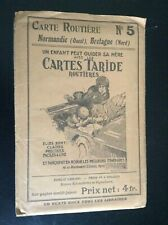 Ancienne carte routière Taride N° 5 Normandie Bretagne TBE