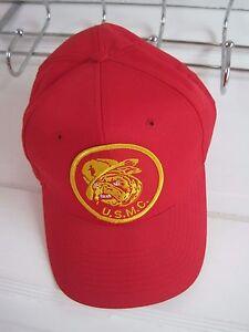 Vintage NOS USMC Bulldog Embroidered Patch Snapback Baseball Hat Cap Marines