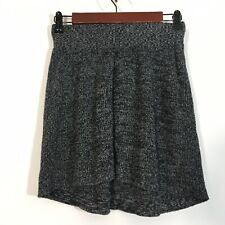 Mossimo Skirt Women Size XS Gray Knit High Low A Line Pull On Comfort