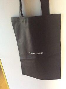 Saint Laurent Cotton Bag Tote 100% Authentic Black With Card
