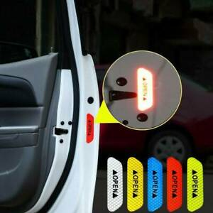 4PCS Safety Reflective Tape Open Sign Car Door Warning Sticker Mark Accessories