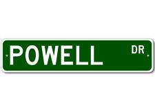 Powell Drive Street Sign Personalized Custom Last Name Metal Aluminum Plaque