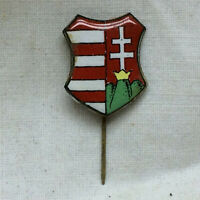 Vintage  Pin Enameled Crest Hungary Coat Of Arms
