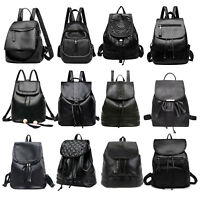 Women Girls Backpack Casual PU Leather Rucksack Shoulder Satchel School Book Bag
