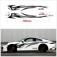 2xFlame Car Sticker Length Flame Graphics design Car body decor cover Decals