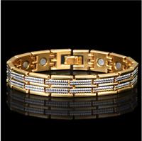 18 karat Armkette Armreif Edelstahl Armband 21cm Herren Damen Männer vergoldet