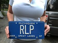 Vtg Metal Michigan License Plate Esham Icp Detroit Rlp Real Life Productions Mi