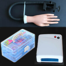 Carry Case 36W UV Lamp Model Hand Curing Dryer Light Acrylic UV Nail Art Kit Set
