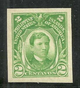 U.S. Possession Philippines stamp scott 340 - 2 cent imperf issue - mlh - xxx