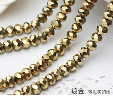 """wholesale 'AB """"""""Glass Crystal Faceted Rondelle Charm Spacer Beads 4---10mm"""