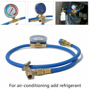 AC R134A Refrigerant Charging Hose Low Pressure Gauge For Home Car Air Condition
