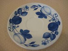 "Portmeirion Harvest Blue By Angharad Menna Saucer, Made In England, 6 3/4"" Dia"