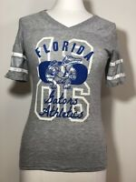 Florida Gators Ladies V Neck NCAA Collegiate Printed Tee Shirt NWT Sizes-XS-S-M