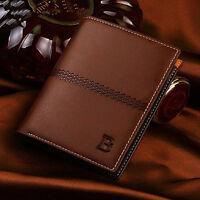 Billfold Mens Leather Bifold ID Card Holder Wallet Handbag Slim Clutch New Gifts