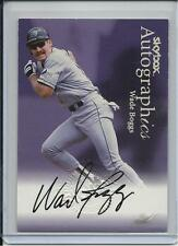 1999 SKYBOX AUTOGRAPHICS HOF WADE BOGGS AUTOGRAPH TAMPA BAY RAYS