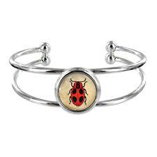 Vintage Lady Bug Silver Plated Bangle old fashioned bug beetle Bracelet NEW