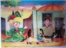Soviet Vintage 3D Stereo Postcards Fairy Tale Little Mook