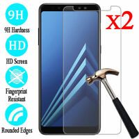 2Pcs Full Cover Tempered Glass Screen Protector For Samsung Galaxy A6 A7 A8 A9
