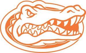 Florida Gators Gator Head Outline Vinyl Decal (Orange)