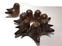 THOMAS KAKINUMA 1908- 1982 Mid Century Modern Signed Pottery Birds Canada, 1960s