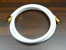 tuyau de douche Blanc / doré ( 24 carat ), tuyau douche toutes longueurs