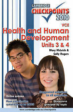 Cambridge Checkpoints VCE Health and Human Development Units 3 and 4 2010: 2010: