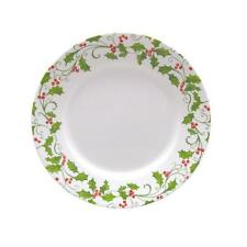 "1 Corelle EVERGREEN ROSE 8 1/2"" LUNCH PLATE Holiday Red Green Holly Berries *NEW"