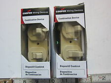 Cooper 276V-BOX Ivory Combination Two 3-Way Switches Lot of 2, NIB