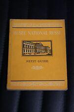 Musee National Russe - Petit Guide - Editions en langueges etrangeres - 1955
