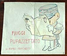 Romeo Marchetti Caricatura disegno Fiuggi Pupazzettato V. Emanuele III