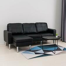 Leather Bedroom L shaped Corner/Sectional Sofas for sale | eBay