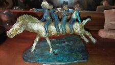 """Four Cowboys..."" Sculpture Bronze by KENNY VARES Modernist/Western"