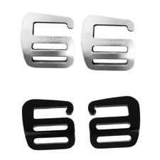 4 Pieces G Hook Outdoor Webbing Buckles Fit for Backpack Strap 25mm, 1 Inch