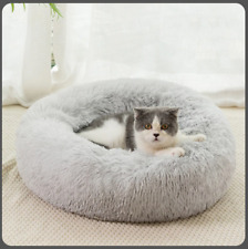 Soft Warm Relaxing Plush Cat Bed Joint Relief Cotton Nest Washable Round Cushion